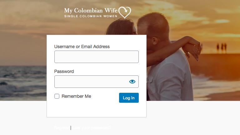 MyColombianWife registration