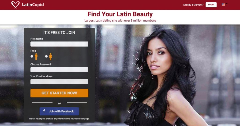 LatinCupid main page