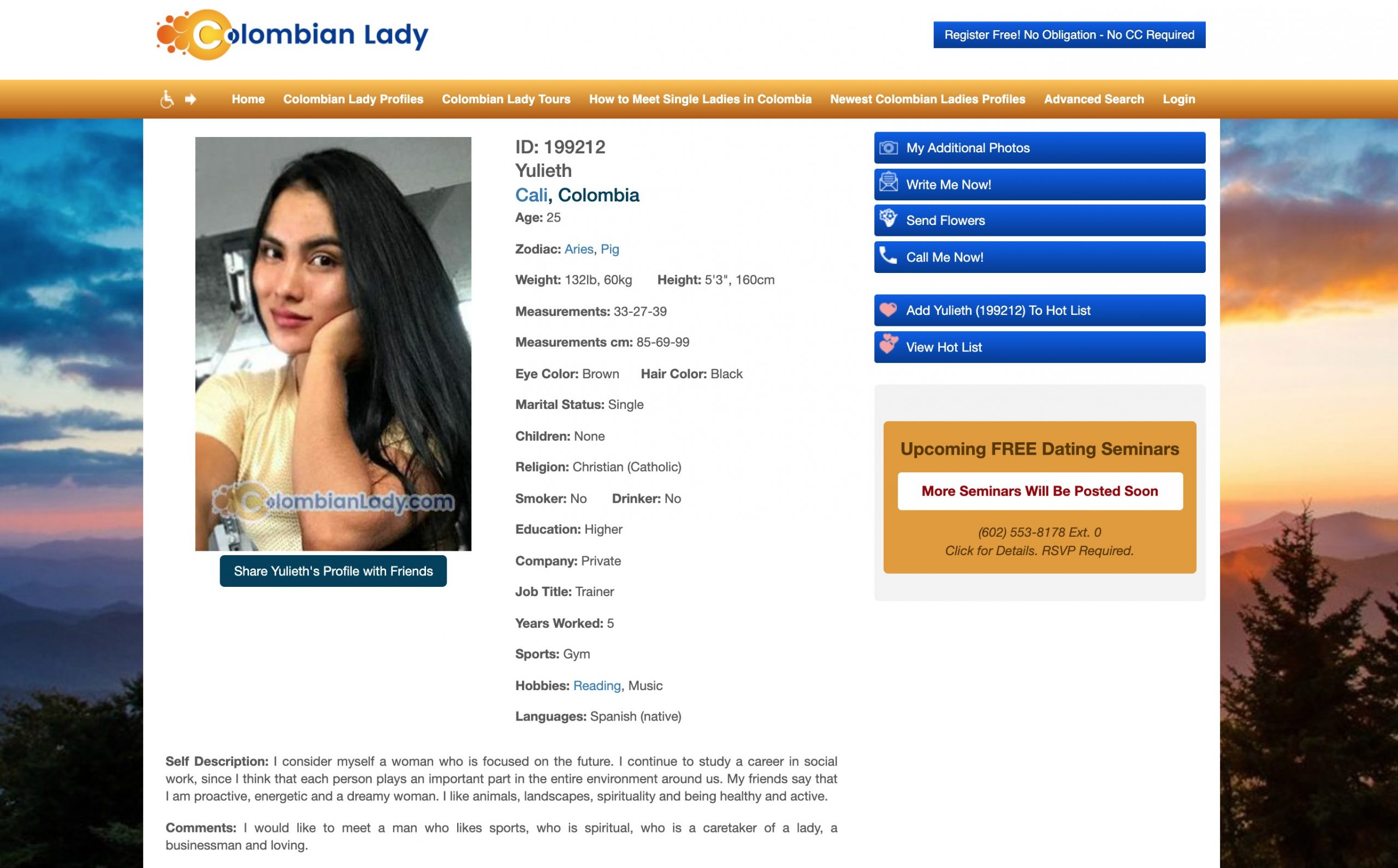 ColombianLady girl cover letter