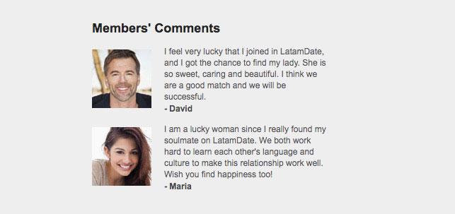 LatamDate testimonials